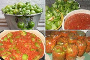 Быстрые и легкие рецепты приготовления зеленых помидор на зиму