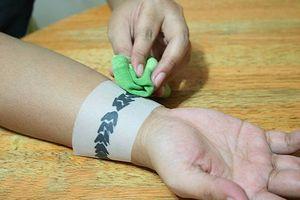 Как наносится временная татуировка