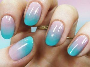 Как сделать омбре на ногтях?