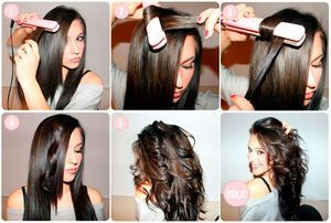 Как завить волосы утюжком