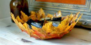 Поделки из листьев на тему осень для детей с фото и видео