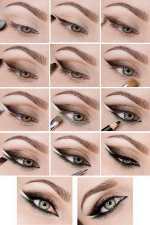 Правильный макияж для карих глаз блондинок
