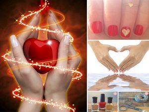 Простой дизайн ногтей с сердечками